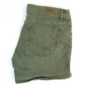 BKE Denim Buckle Women's Size 31 Green jean Shorts